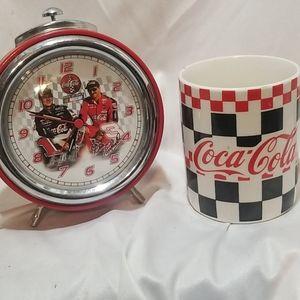 Coca Cola Checkered Cup Mug 1996 nascar  al!rm clo